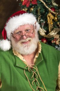 Santa claus with green suit